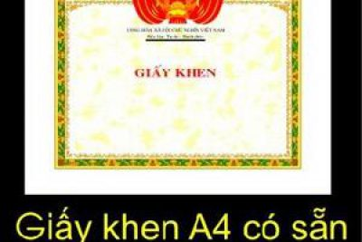 Mẫu in giấy khen (chuẩn)